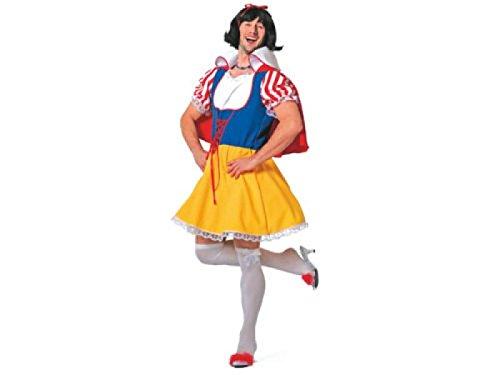 W5286-54-A mehrfarbig Herren Prinzessinen Kostüm Schneewittchen JGA (Disney Männer Kostüme)