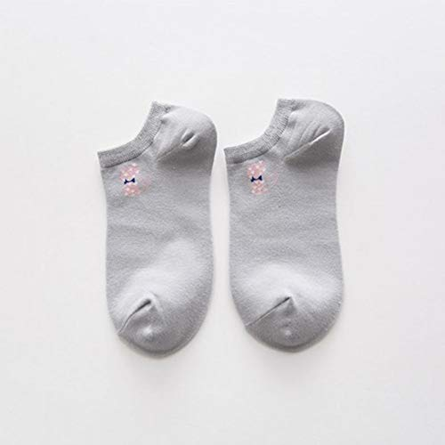 BQMZL 5 Pairs Casual Solid Color Women Socks Warm Cotton Socks Breathable Socks for Female Wholes