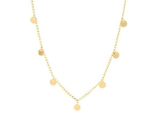 Epinki Damen Damenkette Kette Multi-layer Gold Kette Runde Anhänger Statementkette (Mond Kostüm Sonne Und Ideen)