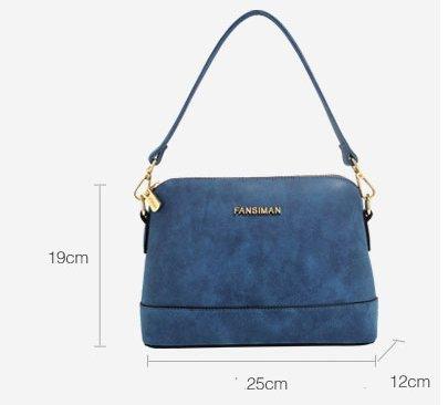 Ms. Europa e sacchetto di shell/pacchetto diagonale spalla opaca retrò/borsa portatile-B D