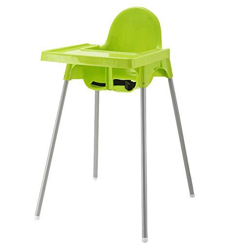 Baby-Hochstuhl - Baby-Esstisch und Stühle Baby-Essen-Tisch Multi-Funktionssitz-Home-BB-Hocker (Farbe : Green) -