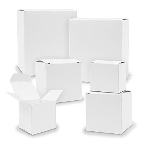 itenga Schachteln V1 24x Quader Würfel gemischt WEISS Boxen zum Basteln