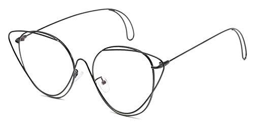 TYJMENG Sonnenbrillen Aushöhlen Doppel Felgen Vintage Herren Brillen Rahmen Frauen Marke Hohe Qualität Metall Optische Gläser Computerarbeit Uv, Schwarz W Klar