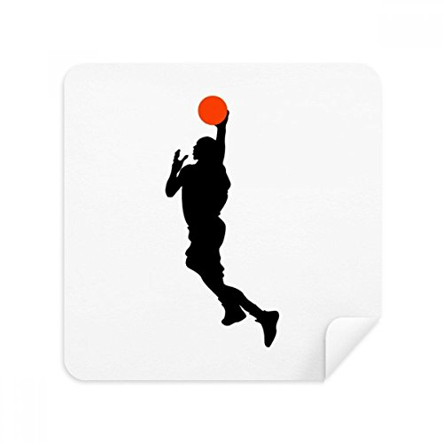 DIYthinker Sport Slam Dunk-Basketball-Spieler-Glas-Putztuch Telefon Screen Cleaner Suede Fabric 2Pcs