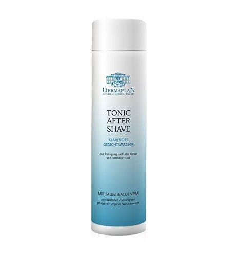 DERMAPLAN Tonic After Shave | Rasierwasser für normale und sensible Haut | mit Aloe Vera | für Männer & Frauen | Veganes Naturprodukt | 200ml