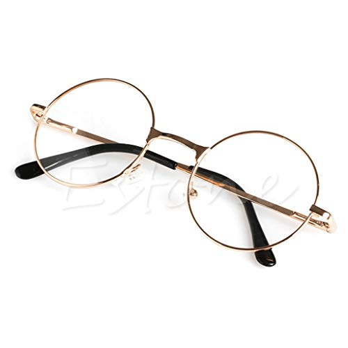 Chaunce Gute Qualität Retro Unisex Metall Runder Rahmen Lesebrille Reading Glasses Presbyopie Brille für Herren Damen Dioptrie +1.0 ~ + 4.0