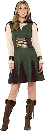 Smiffys Lady Robin Hood Damen Kostüm Karneval Jägerin Mittelalter