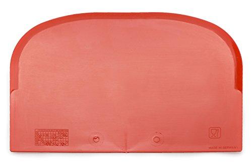 Espátulas de cocina con bordes redondeados (juego de 5) - Cocine como un profesional con esta espátula pastelera - Perfecta como paleta de cocina para cortar - Color: rojo - Robusta y duradera