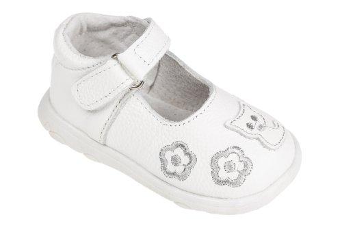 Ballerinas für Mädchen, Leder, weiß, Gr. 19-24 Weiß
