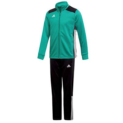 Jungen Sportbekleidung (adidas Kinder Polyesteranzug Trainingsanzug Regista 18 BGREEN/Black 128)