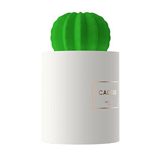 JUEJIDP Kleines Licht Licht Plug-in Baby Fütterung Nachttisch Schlafzimmer mit Schlaflicht Mini Kaktus tragbare USB-Luftbefeuchter