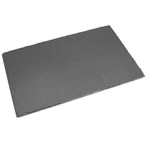 com-four® XL Ardoise en Ardoise Naturelle en sous-Verre, Set de Table ou Buffet, Environ 45 x 30 cm (01 pièce - Assiette de Service 45 x 30 cm)