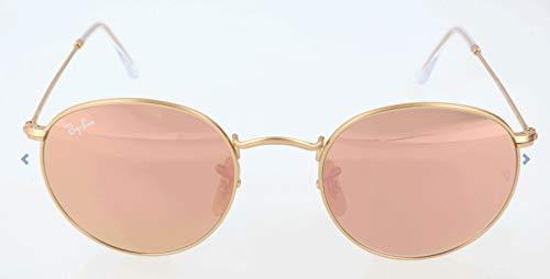 Ray-Ban Herren Sonnenbrille Rb 3447, Matte Gold/Brownmirrorpink, 53