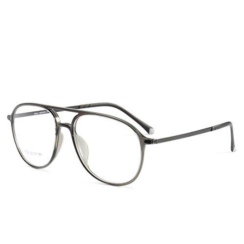 Fusanadarn Doppelte Nasenrücken-Silikon-Fußabdeckungsbrille umrahmt eine Nicht verschreibungspflichtige Brille für Damen und Herren (Color : Matte Black)