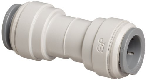 John Guest Acetal Copolymer Tube Fitting, Union Straight Connector, 1/4 Tube OD (Pack of 10) by John Guest - John Guest Union Connector