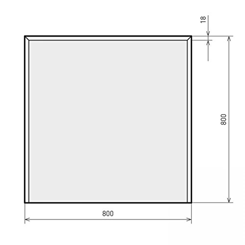 raik B40004 Kamin Glasplatte Quadrat 2 inkl. Facette