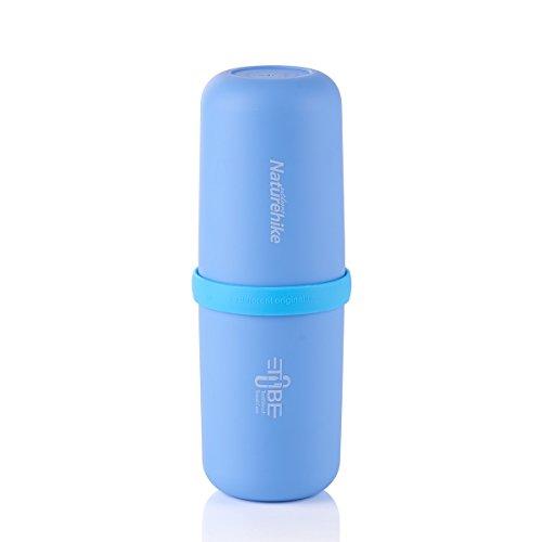 Outdoor 3in 1multifunzionale a forma di capsula Wash Cup Portable Collutorio spazzolino da viaggio bottiglia contenitore per campeggio Business, Blue