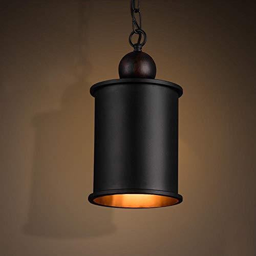 Schwarz Anhänger Laight Shade, American Retro Metall Runde Kronleuchter für Pendelleuchte Wohnzimmer Studie Bar Kronleuchter Lampen