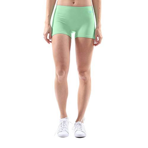 Sportkind Mädchen & Damen Tennis, Volleyball, Sport Shorts, lindgrün, Gr. 134