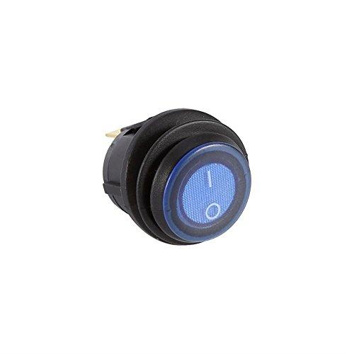 Keenso Auto Kippschalter LKW Runde Wippe Toggle LED-Schalter 12V 16A 3 Pin Blaulichtschalter SPST Ein-Aus-Steuerung -