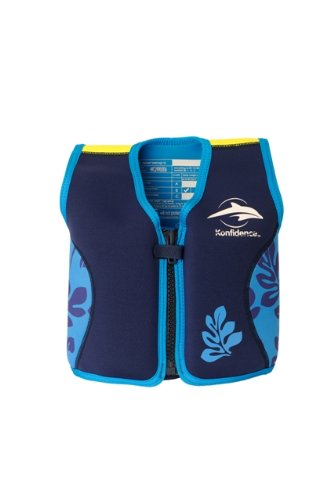 Preisvergleich Produktbild Kinder-Schwimmweste aus Neopren, navy/blue palm, Konfidence Jacket Größe 4-5 Jahre: 16-21 kg, Brustumfang ca. 61 cm