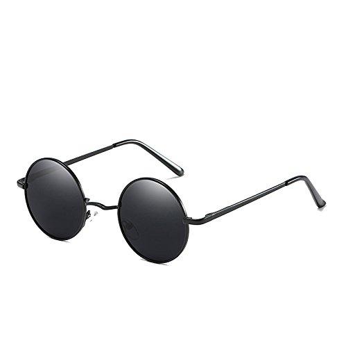 ProProCo Runde John Lennon Style Sonnenbrille - Polarisierte Retro Brille für Damen und Herren - Vintage Unisex Fashion Brille - Retro Sunglasses - Steampunk Brille