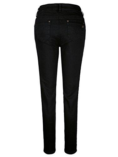 Damen Jeans mit Rosenstickerei by AMY VERMONT Schwarz