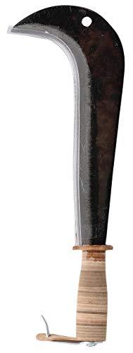 Leborgne 260260 - Roncola italiana, 26 cm, con manico in legno e rivestimento in cuoio