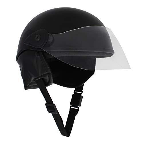 Sage Square Scooty Half Helmet for Men, Women (Black Glossy, Large)