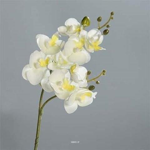 Orchidee artificiali, mini phalaenopsis artificiale, altezza 53 cm, motivo: fiore
