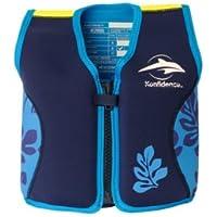 Kinder-Schwimmweste aus Neopren, navy/blue palm, Konfidence Jacket Größe 4-5 Jahre: 16-21 kg, Brustumfang ca. 61 cm