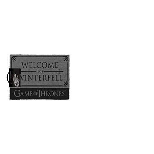 1art1 Juego De Tronos - Welcome To Winterfell Felpudo Alfombra (60 x 40cm) 2