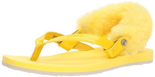 UGG Damenschuhe Zehentrenner LAALAA 1090387 Lemon Yellow, Größe:39 EU - Gelb Ugg