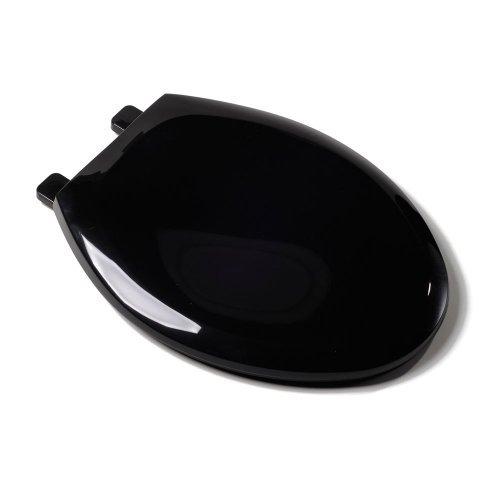 Comfort Seats C1B3E4S90 EZ Close Deluxe Plastic Toilet Seat, Elongated, Black by Comfort Seats
