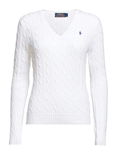Polo Ralph Lauren Cable Knit V-Neck Cotton Pullover Kimberly M Weiss (V-neck Knit Cable Sweater)