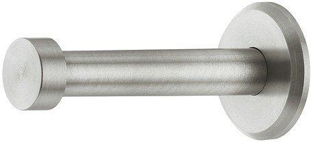 GedoTec® Garderoben-Haken Kleiderhaken Edelstahl - Modell UP-25 | Tiefe: 72 mm | Mantelhaken Edelstahl matt gebürstet | Wandgarderobe unsichtbar verschraubt | Haken inkl. Befestigungsmaterial | Markenqualität für Ihren