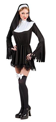 ,Karneval Klamotten' Kostüm Sexy Nonne Dame Karneval Religion Damenkostüm Größe (Themen Religion Kostüme)