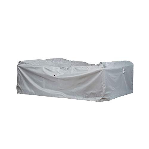 Schutzhüllenprofi Bâche de Protection Premium - Oxford 600D - pour Salon de Jardin rectangulaire - Gris Clair - Taille M - 237 x 237 cm
