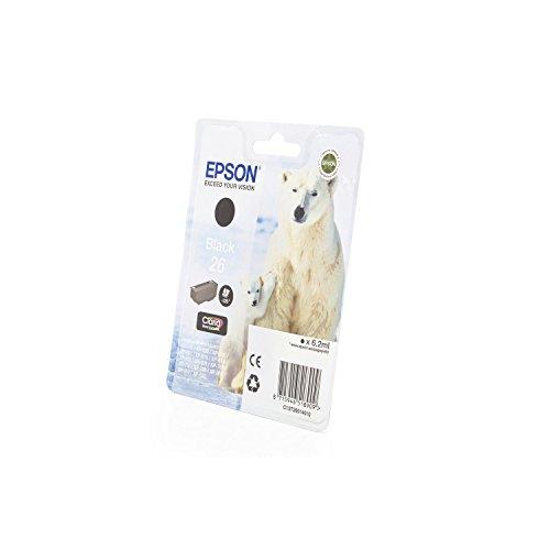 Preisvergleich Produktbild 1x Original Tintenpatrone für Epson C13T26014010 26 T2601 - BLACK -