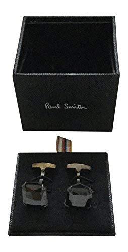 Paul Smith Designer Stil Ikone Manschettenknöpfe - schwarz Edelstein, One size