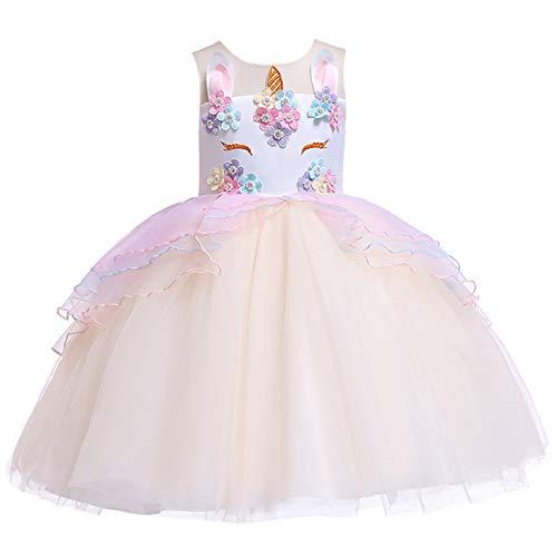 Gaga city Kinder Einhorn Kostüm Mädchen Blume Kleid Cosplay Hochzeit Geburtstagsfeier Party Kostüm Prinzessin - Kleinkind Kostüm Party City