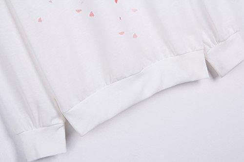 YICHUN Femme Fille Tops T-Shirts Manche Longue Tee-Shirts Camisole Fin Sweat-shirts Pulls Sweaters Sweats Blouse Tunic Déshabillé 5#