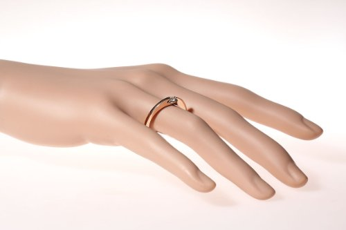 Goldmaid Damen-Ring 14 Karat 585 Rotgold Solitär Verlobungsring 1 Brillant 0,15 ct. So R6220RG - 2
