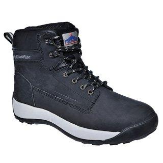 Portwest Fw32 Steelite™ Constructo Nubuck Travail Boot S3 Mens Chaussures Noir