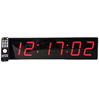 Extra large 4 led count down up interval timer stopwatch remote control clock - Extra large digital wall clock ...