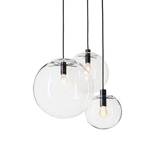MZStech Sphärische Klassische Glas Pendelleuchte Kreative Einzigen Licht Glas Lampe, Kronleuchter Licht LED Hängelampe (25CM) -