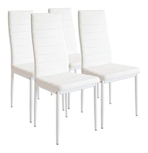 Albatros 2552 set di 4 sedie milano, bianco