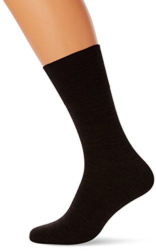 FALKE Herren Füßlinge, Braun (Dark Brown Melange), 41/42 (Dress Mens Kombination Socken)