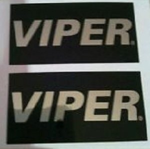 (2) VIPER Warning Stickers. Car Alarm Security System Decals by Directed Electronics