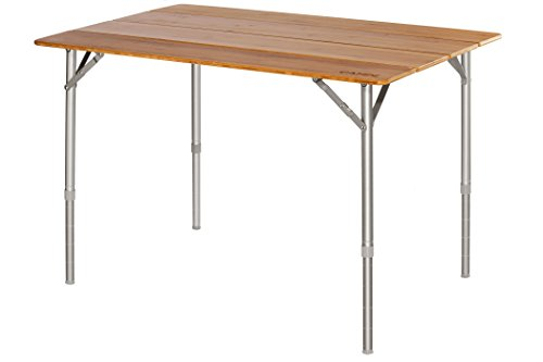 CAMPZ Bamboo Folding Table 100x65x65cm braun 2019 Campingtisch